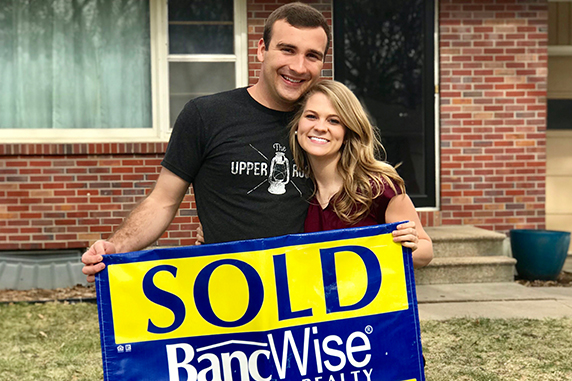 BancWise Realty helps young couple sell home.